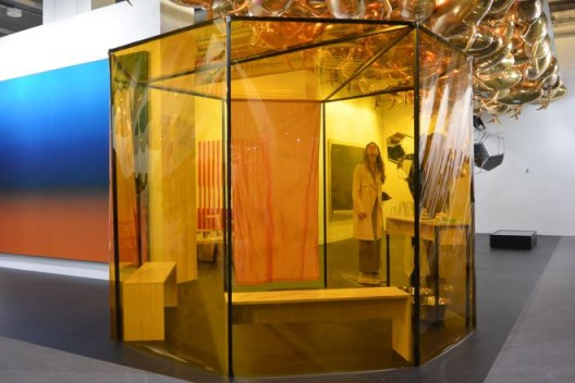 Directly opposite the entrance to the VIP lounge, Esther Schipper had the most photographed booth,  with Philippe Parreno, Tomas Saraceno, Thomas Demand, Angela Bulloch, Liam Gillick, Roman Ondák
