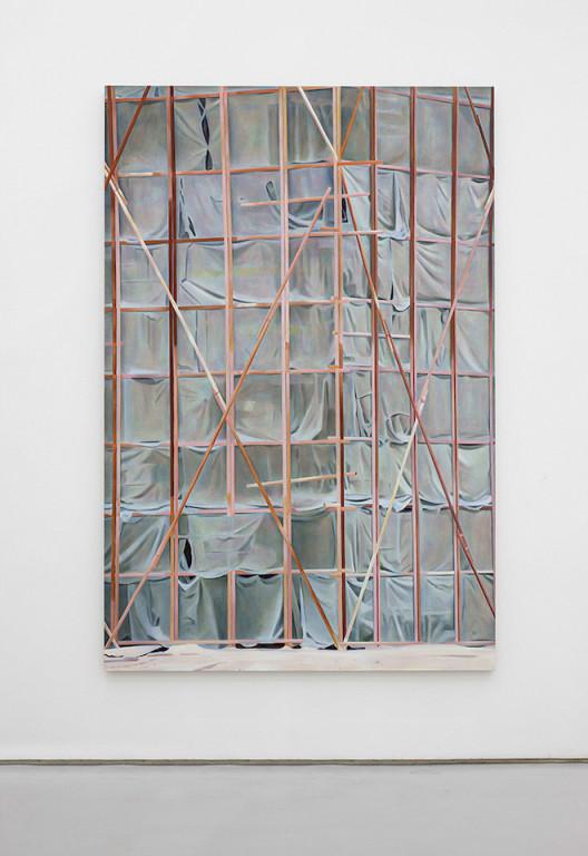 Wang Qiang_Fremde Stadt_acrylic on canvas_2015_250 x 167 cm _1_