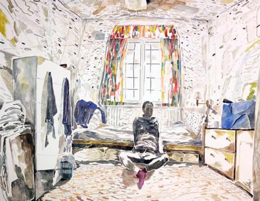Chris HUEN Sin Kan, The Arrival 2015, oil on canvas, 140 x 180 cm