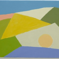 """Etel Adnan, """"Untitled"""", oil on canvas, 10 5/8 x 13 3/4 in. (27 x 35 cm), 2015, ©the artist. Photo © White Cube (George Darrell) Courtesy White Cube"""