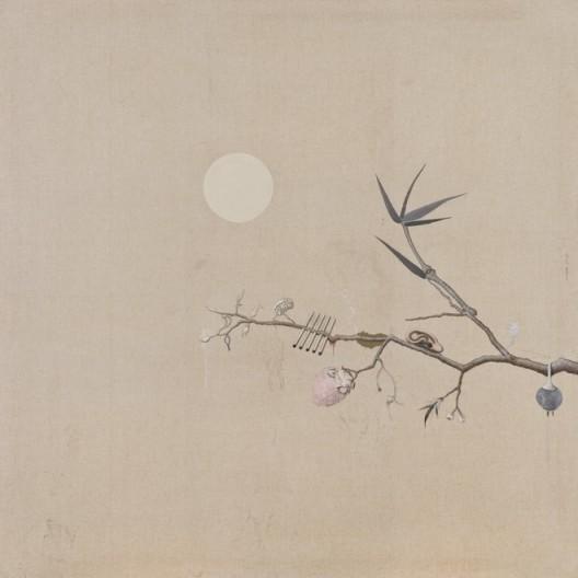 "Ji Dachun, ""Bird painting without bird"", 140x140 cm, acrylic on canvas, 2008季大纯,《有只无鸟图》,布面丙烯,140x140 cm,2008"