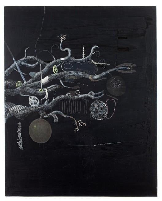 "Ji Dachun, ""Ellen's Book"", 100x80 cm, acrylic on canvas, 2010季大纯,《Ellen的书》,布面丙烯,100x80 cm,2010"