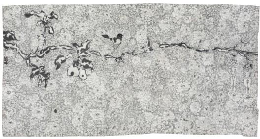 "Liu Wei, "" Bird"", 70x135 cm, ink on paper, 2014刘炜,《鸟》,水墨,70x135 cm,2014"