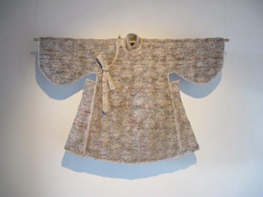 """Wang Lei, """"Ming Dynasty - Today No. 2"""", Old newspapers, weaving, 85 x 123, 2014王雷,《今日明朝 之二》,五彩宣纸搓线及编织技术,85 x 123,2014"""