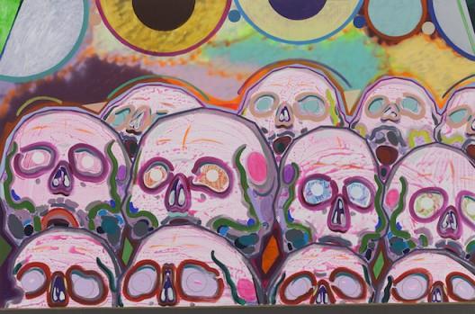 十二个骷髅 Twelve Skeletons_2015_布面丙烯