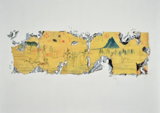 "Chen Jiaye, ""To Tear No. 12"", Oil on canvas, 120 x 160 cm, 2013陈家业,《撕系列之十二》,布面油画,120 x 160 cm,2013"