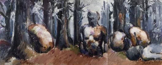 660x260cm根茎rhizoma布面油画canvas oil painting 2015年-1