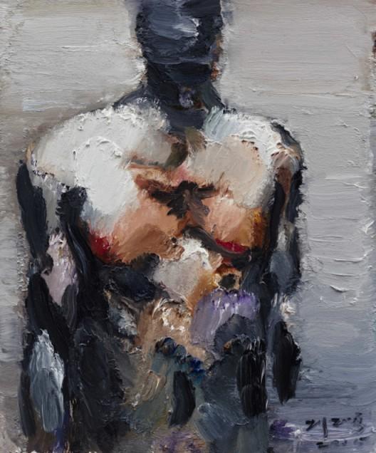 120x100cm虚空之地The void land布面油画canvas oil painting 2015年-1