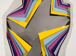 "Jim Lambie, ""Metal Box (Istanbul)"", aluminium sheeting, 2013.(courtesy: Roslyn Oxley9 Galley, Sydney)"