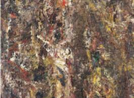 Homme en croix,  1990, oil on canvas, 195 x 130 cm