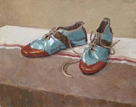 《鞋》,布面丙烯,43 × 50 cm,2013