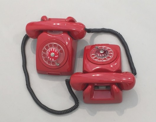 Dominique Gonzalez-Foerster Siamese telephones strike up a conversation at Esther Schipper
