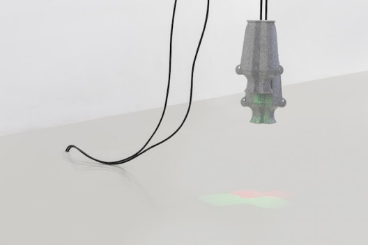 Liu Chuang, Untitled, 2015, Porcelain, LED Light, electrical wire, 27×19cm (×2), Courtesy the artist and Magician Space