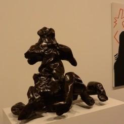 Willem de Kooning and Eric Fischl at Skarstedt, New York. 威廉·德·库宁和埃里克·费舍尔,纽约Skarstedt画廊(图片由艺术家和画廊提供,摄影:燃点)