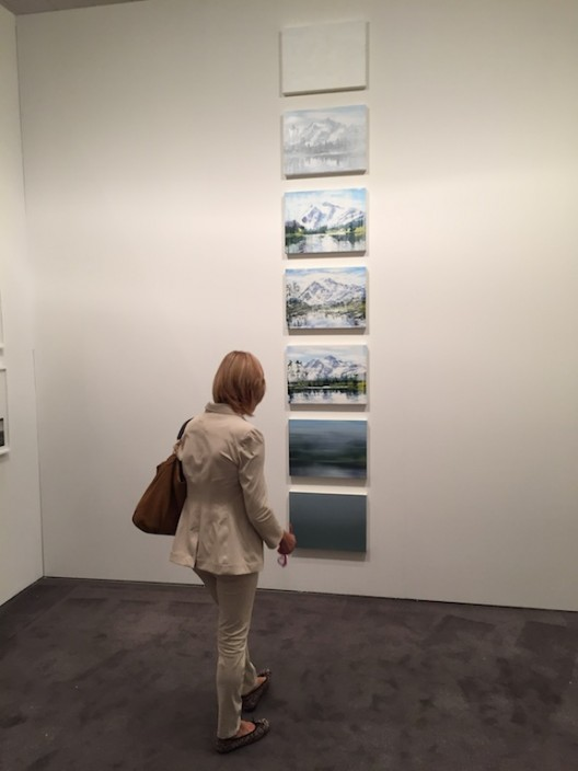 Cynthia Daignault paintings at Lisa Cooley booth, New York