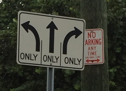 Maybe meaningless Miami signs.