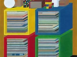 彭剑,《重奏》,纸本设色,132x124 cm,2015