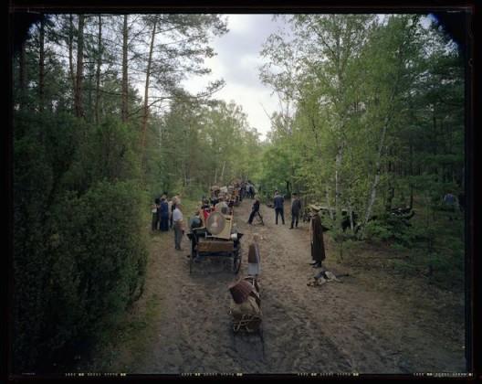 《集体迁徙,错误运动系列》,透明胶片,180x220,2003
