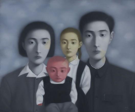 """Zhang Xiaogang (born 1958, Kunming), """"Bloodline Series—Big Family No. 17-1998"""", 1998"""