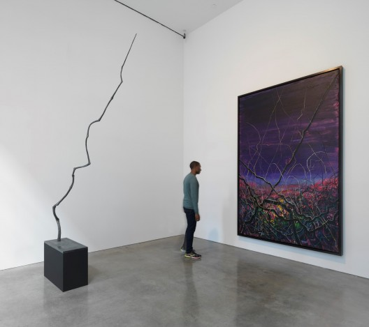 """Zeng Fanzhi,Paintings Drawings and two Sculptures, 2015,installation view 曾梵志,""""油画、素描和两件雕塑"""",2015,展览现场"""