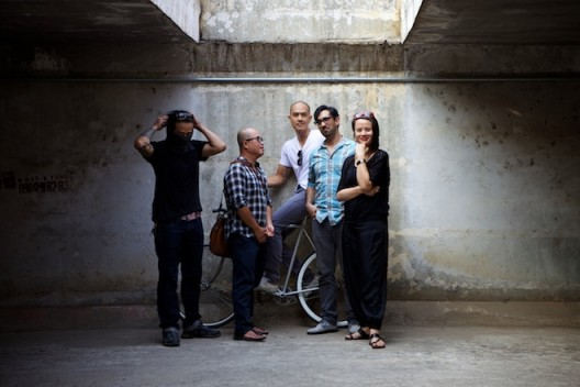 Sàn Art board members (from left) Phunam, Dinh Q Lê, Tuan Andrew Nguyen, Matt Lucero and Zoe Butt. Phunam, Dinh and Tuan are co-founders of San Art.