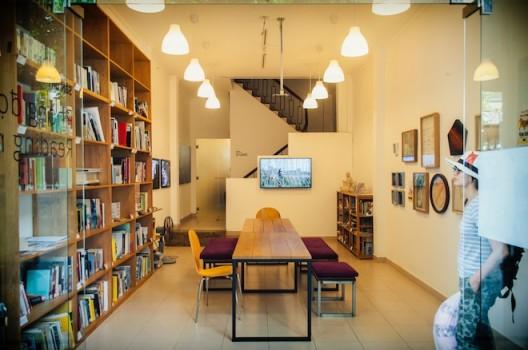 The reading room of Sàn Art