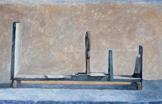 "贺勋,《光线》,布面油画,50×80cm,2014 He Xun, ""Lights"", Oil on canvas, 50×80cm, 2014"