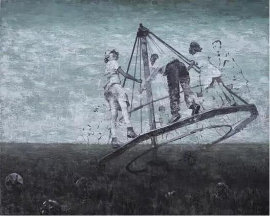 """吉磊,《时光之钻》,布面丙烯,200×250cm,2012 Ji Lei,""""Drill of time"""", Acrylic on canvas,200×250cm,2012"""