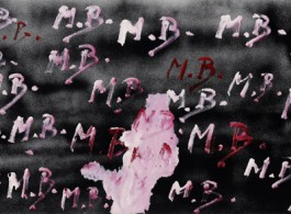 """""""MB MB MB"""", 1968 Oil on canvas, 25 1/2 x 45 1/4 inches (65 x 115 cm)."""
