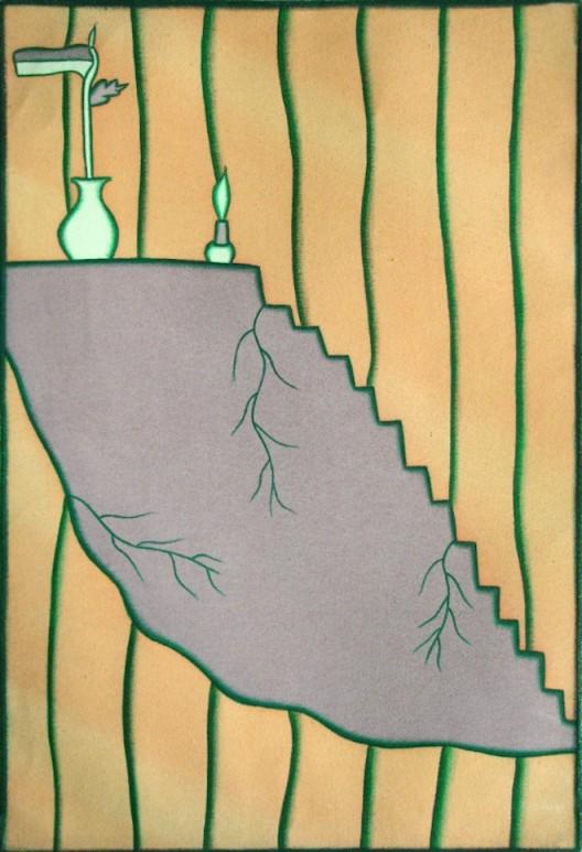 I GAK Murniasih (1966-2006), Aku merayakan kebahagiaaku, 1997, Acrylic on canvas. Courtesy of I GAK Murniasih Foundation. I GAK Murniasih (1966-2006), Aku merayakan kebahagiaaku, 1997, 壓克力、畫布。I GAK Murniasih Foundation 版權所有