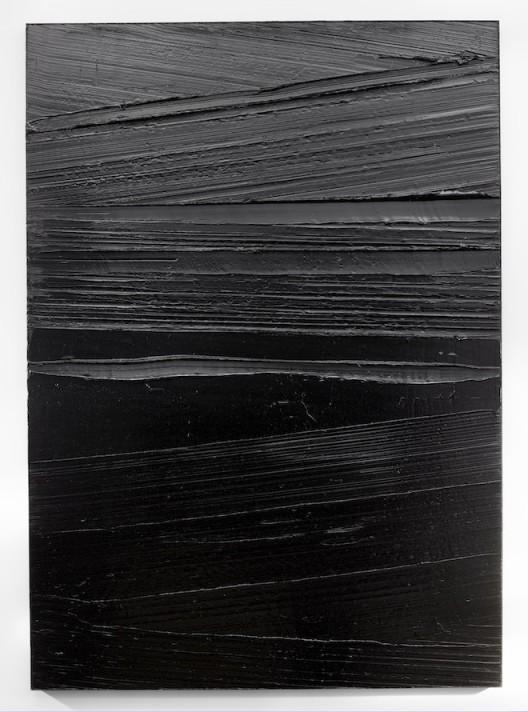 Pierre Soulages, Peinture 202 x 143 cm, 14 aout 2015, 2015. Acrylic on canvas. 79 1/2 x 56 1/4 inches (202 x 143 cm). © ADAGP, Paris and DACS, London 2016.