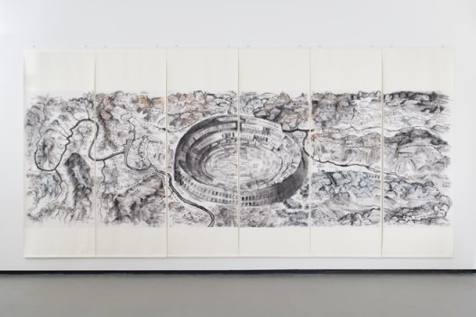 "Qiu Zhijie, ""From Huaxia to China"", 2015邱志杰,《第三世界地图》,2015"