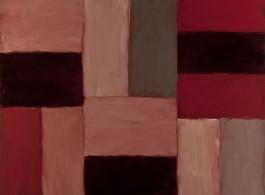 肖恩·斯库利,《红楼》,亚麻布面油画,2012 Sean Scully,Red Chamber,oil on linen,2012