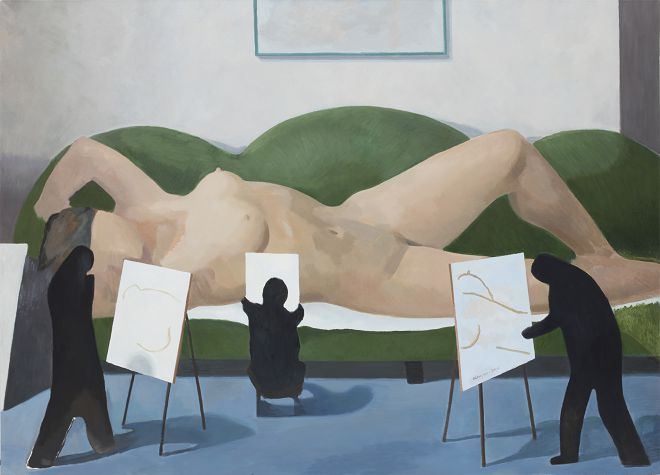 15-写生1,布面油画,180x250cm,2015
