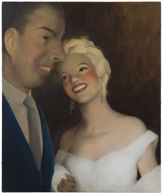 "CHEN Ke ""1955·New York ·29 Years Old ·With DiMaggio"", 2016 Oil on canvas 50 x 60 cm Photo: Yang Chao Studio Courtesy Galerie Perrotin"