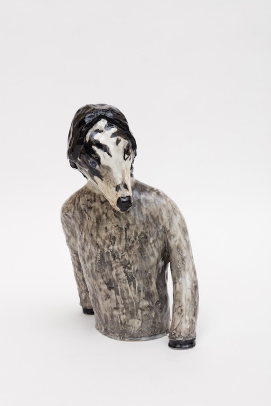 "Klara KRISTALOVA ""The artist as a dog"", 2016 Glazed porcelain 52 x 24 x 37 cm Photo: Carl Henrik Tillberg Courtesy Galerie Perrotin"