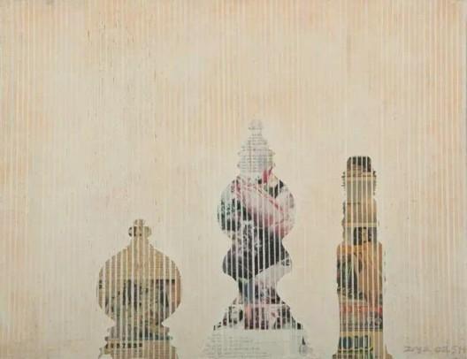 虚无的日子, 布面丙烯,Days in Vain, acrylic on canvas, 55x65.8cm, 2002