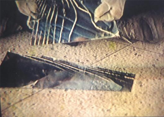 """张培力,《30 × 30》,  录像屏,1988 。Zhang Peili, """"30 × 30"""",  video still, 1988."""