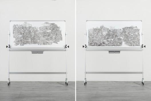 彭奕轩Peng-Yihsuan_1997-1999_白板笔、白板Marker-whiteboard_-172.5x157.5x58cm