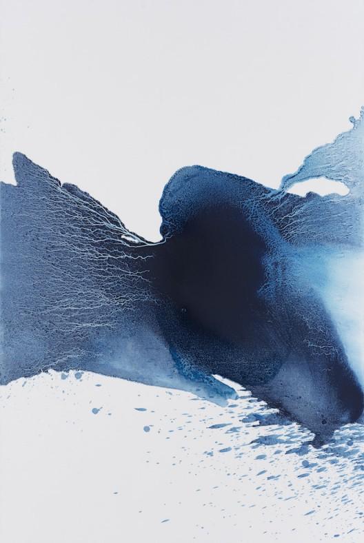 "MaoLizi, ""Reconstructed Landscape Series No.5"", oil on canvas, 130 x 195 cm, 2016(courtesy the artist and Pékin Fine Arts)毛栗子(b.1950, 北京,中國),《山水重構 No.5》,布面油畫,130 x 195 cm,2016(图片由艺术家和北京藝門提供)"