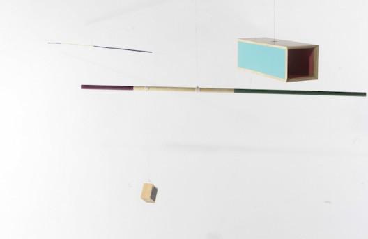 刘卜华, 无题(秤), 木,综合材料, 棉绳, 2015