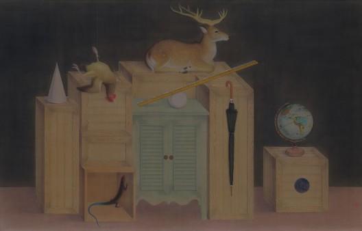 曾志钦,《迷局》,绢本设色,127×200cm,2016