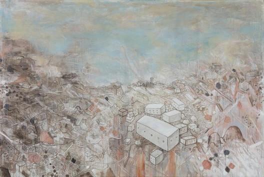 李继开,《大风景》,布面丙烯,200×300cm,2016