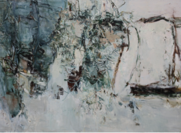 Tu Hong Tao, Continuous Mountain and Bush, oil painting, 2014-2015, 180 x 280 cm