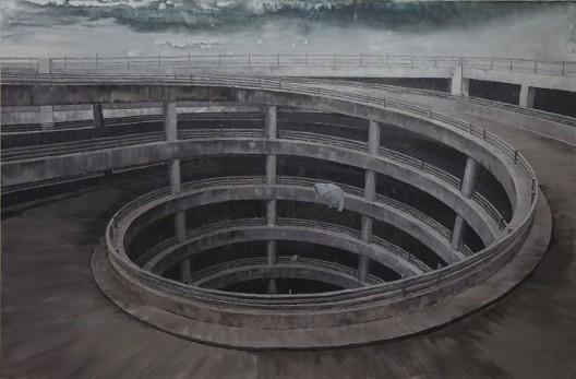 李易纹,《自旋》,布面丙烯,300X200cm,2013 / Li Yiwen, Autorotation, acrylic on canvas, 300X200cm, 2013