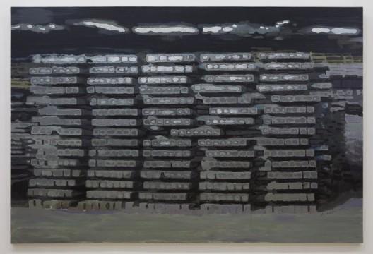 李易纹, 《阵列》, 布面丙烯,300X200cm,2015 / Li Yiwen, Lattice Array, acrylic on canvas, 300X200cm, 2015