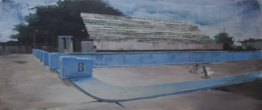 """李易纹,《how to disappear completely》,布面丙烯,285X118cm,2012 / Li Yiwen, """"how to disppear completely"""", acrylic on canvas, 285X118cm, 2012"""
