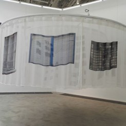 """""""At the Place of Crossed Sights (Part one)"""", exhibition view at C-Space"""