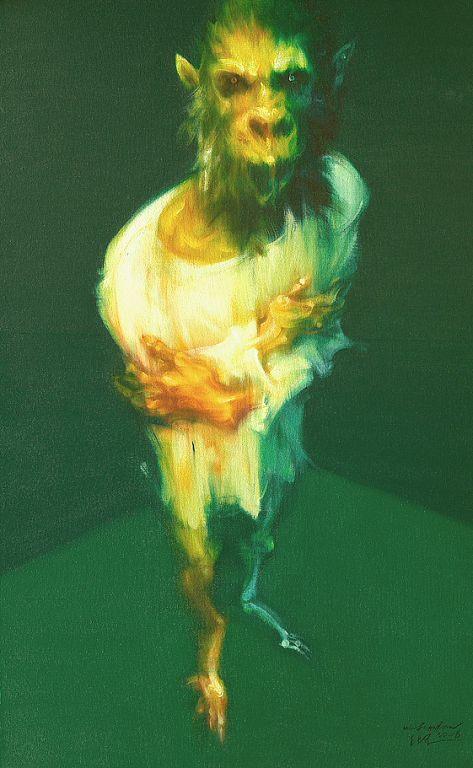 吴建军,《身体的图像我自己No13》,130×80cm,2006