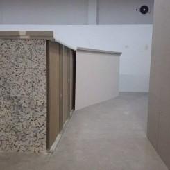 """廖斐,""""旋转体-隔断"""",局部,石膏板、轻钢龙骨,2016"""